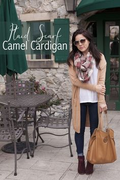 Plaid Scarf & Camel