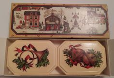 Vintage 1982 AVON Country Christmas Fragranced Decal Soaps New In Original Box #Avon