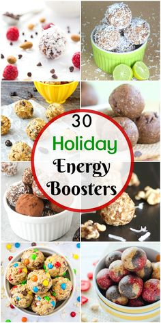 Keep your energy level up with these tasty energy bites and bars to help you get through the holiday season!