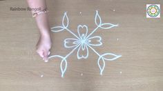 Flower Kolam designs with 5 X 5 dots | Simple Rangoli Designs with dots ...