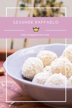 gesunde raffaelo #recipe #rezept #vegan #healthy #sweet #dessert #kokos #mandelmus #amigaprincess