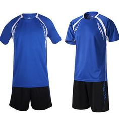 Crew Neck Youth Jerseys and Shorts (Blue & Black)