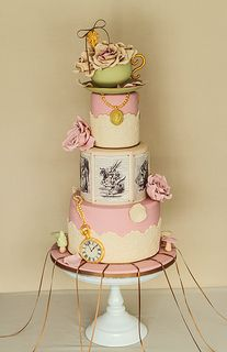 Great different take on Alice in Wonderland cake