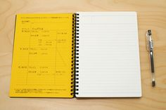 """Maruman Mnemosyne Special Memo Notepad - A5 (5.8"""" X 8.3"""") - 7 mm Rule + Divisions - 24 Lines X 80 Sheets - MARUMAN N195"""