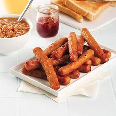 Saucisses déjeuner au four - Les recettes de Caty Brunch Bar, Brunch Buffet, Bagels, Four, Sauce, Charcuterie, Smoothies, Food And Drink, Vegetables