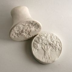 Clay Stamp Forest Tree with Grass Tool for Ceramics Pottery Polyclay Fondant  $11.50