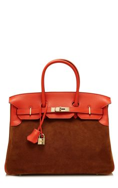 Vintage Herms 35Cm Capucine Swift Leather Fauve Veau Doblis Suede Grizzly Birkin by Heritage Auctions Special Collections for Preorder on Moda Operandi hermes handbags, fashion handbags, #bags#