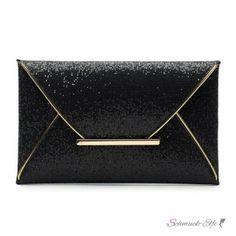 Clutch/ Abend Tasche / Party Tasche Glitter schwarz