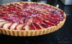 Plum pie (dough without kneading and rolling) - Pie Cake, No Bake Cake, Baking Recipes, Dessert Recipes, Plum Pie, Sweet Pie, Happy Foods, Piece Of Cakes, Yummy Snacks