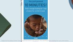 Un día de agua por cada 10 minutos sin usar el celular #UNICEF