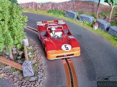Alfa 33/3 (1/32 scale) #diorama #targa #florio #alotslot #modelling #scalextric #slot #scx #targaflorio #ninco #carrera #alfa #romeo #alfaromeo #33 #33/3 #slotit #slot.it #slotcar #lemans #132scale #toycar #modelcar Race Car Sets, Race Cars, Slot Car Tracks, Slot Cars, Alfa Romeo, Funny Pictures For Kids, Scale, 3, Dreams