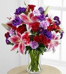 The Stunning Beauty Bouquet is a romantic floral arrangement of red, purple and lavender flowers in a glass vase. The perfect anniversary gift! Online Flower Shop, Order Flowers Online, Beautiful Bouquet Of Flowers, Wedding Flowers, Wedding Bouquet, Wedding Ceremony, Gift Flowers, Happy Flowers, Send Flowers