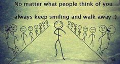 Don't worry what others think