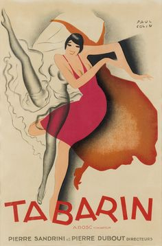 PAUL COLIN (1892 1986 TABARIN 1928 23x15 inches 58x38 cm Art Deco Posters, Vintage Posters, Wall Art Prints, Canvas Prints, A4 Poster, Wassily Kandinsky, Contemporary Artwork, Claude Monet, Vincent Van Gogh