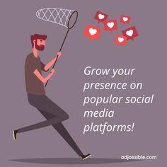 Platforms, Social Media Marketing, Campaign, Base, Content, Medium, Business, Store, Business Illustration