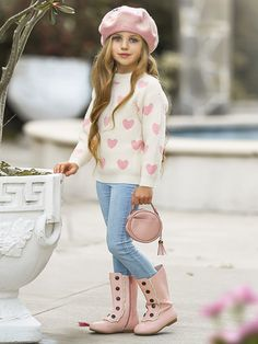 Outfits Niños, Girls Fall Outfits, Mommy And Me Outfits, Little Girl Outfits, Little Girl Fashion, Little Girl Dresses, Little Girl Clothing, Little Girl Style, Fall Toddler Outfits