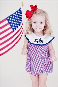 Two of my favorite things, USA and monogram....my kids will be dressed like this