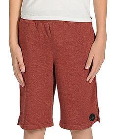 Another great find on #zulily! Volcom Burnt Sienna Smush Shorts - Boys by Volcom #zulilyfinds