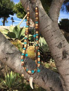 Necklace Multi door Bohemian4Ever op Etsy