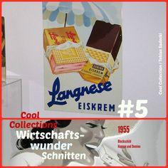 Langnese-Blechschild Domino und Happen 1955