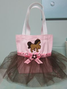 Cowgirl Tutu Tote Bag. $18.00, via Etsy.