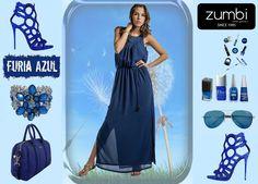 """Vestido marca """"Zumbi Urban Glamour""""  Disponível também nas lojas de Vila Nova de Gaia e São João da Madeira loja online http://www.zumbi.pt/ #newcollection #fashion #summer #trendy #trend #gifts #look #dress #blue #zumbiurbanglamour #summercollection"""