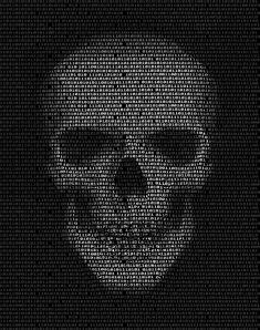 Skull Made Of Binary Code. Hacker, Cyber War Symbol Stock Illustration - Illustration of islam, made: 60854404 Ascii Art, Code Art, Dark Wallpaper, Pretty Wallpapers, Skull And Bones, Memento Mori, Skull Art, Aesthetic Art, Creative Photography