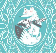 Banjo playing fox.