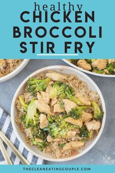 A Healthy Chicken and Broccoli Stir Fry Recipe that is healthy and delicious. Gluten free and easily modified for a paleo/keto friendly dinner.