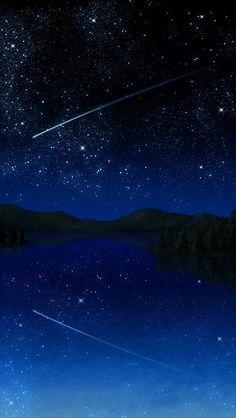 鏡面する銀河 iPhone5壁紙