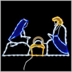 LED Holy Family lighted window ornamental #Christmas #lights #Nativity #Bronners $24.99