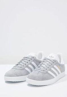 adidas Originals GAZELLE - Sneaker low - mid grey/white/gold metallic - Zalando.de