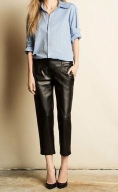 low-key #leather pants -- Crippen