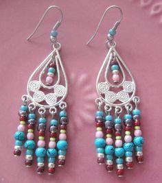 Chandeliers -   Ohrringe Boho Styl  - ein Designerstück von MIO-O bei DaWanda