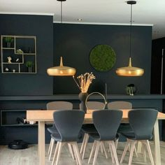New Kitchen Inspiration, Dining Lighting, House Doctor, Room Decor, Ceiling Lights, Wall, Furniture, Walls, Home Furnishings