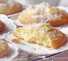 Cookies coconut and white chocolate: the easy recipe - Cake Recipe Blgo Easy Cake Recipes, Cookie Recipes, Dessert Recipes, Biscuit Cake, Cookies Et Biscuits, Yummy Cookies, Cupcake Cookies, Coconut Cookies, Desserts With Biscuits