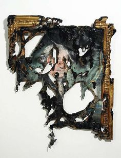 Intentionally Decayed Art - Mutilated Masterpieces by Valerie Hegarty (GALLERY)i love this idea, creating an incredible piece and then burning and cutting it Inspiration Art, Art Inspo, Collages, Decay Art, Growth And Decay, A Level Art, Gcse Art, Textiles, Art Projects