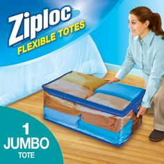 Free 2-day shipping on qualified orders over $35. Buy Ziploc Flexible Totes Jumbo 1 count at Walmart.com