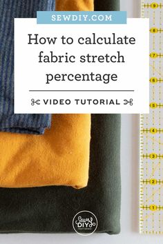 Learn all about fabric stretch, including sewing terminology and how to calculate the stretch of your fabric. Diy Sewing Projects, Sewing Hacks, Sewing Tutorials, Sewing Patterns, Sewing Tips, Video Tutorials, Free Sewing, Hand Sewing, Sewing School