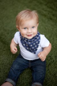 JT rocking his blue baby bandana with skulls by @Brok Boys Accessories. Edgy accessories for the little man in your life: http://www.etsy.com/shop/BrokBoys
