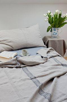 Gettare Bed Cover, Grainsack, rustico pesante biancheria da letto in lino, lino, biancheria da letto king size, lenzuola, copriletto, biancheria a strisce, grainsack di LinenElements su Etsy https://www.etsy.com/it/listing/446522184/gettare-bed-cover-grainsack-rustico