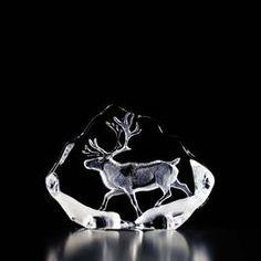 Sweden Crystal Design - Ren i glasblock av Mats Jonasson.