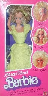 Magic Curl Barbie.  This was one of my first Barbies.  You could perm and straighten her hair.