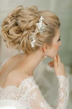 Hairstyle for Long Hair Wedding