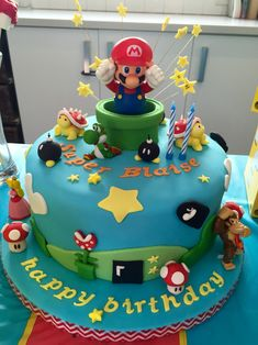 Brilliant Photo of Mario Bros Birthday Cake Mario Bros Birthday Cake Super Mario Cake Ideas Cumpleaos Richi Super Pastel Nintendo, Nintendo Cake, Nintendo Dsi, Super Nintendo, Nintendo Switch, Bolo Do Mario, Bolo Super Mario, Mario Kart Cake, Mario Bros Cake