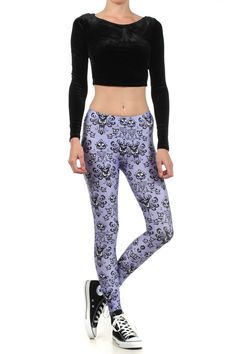 Haunted Mansion wallpaper leggings. I would deem these acceptable to wear as pants.