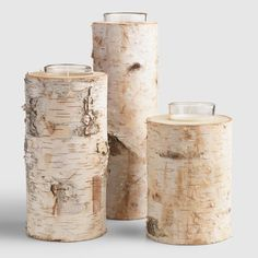Give your decor a rustic edge with our votive candleholder made from authentic birch wood, with natural variations that ensure no two are exactly alike. In three sizes, it comes wrapped with a jute tie and an embellished tag for easy instant gifting. Hurricane Candle Holders, Votive Candles, Rustic Chic, Rustic Decor, Rustic Design, Fall Home Decor, Christmas Home, Christmas Ideas, Christmas Crafts