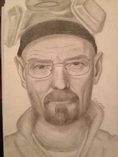 Walter White portrait, art by Hall