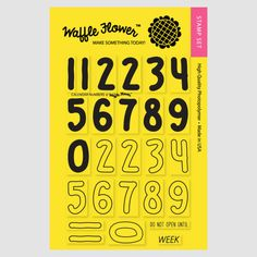 Waffle flower stamps Calendar Numbers £11