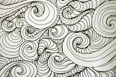 Waves drawn with a Sakura pen - Sketchbook Project page 2 by ecdesignz, via Flickr